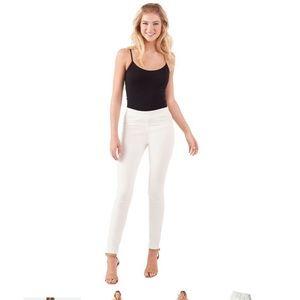 Elyse Denim Leggings in white